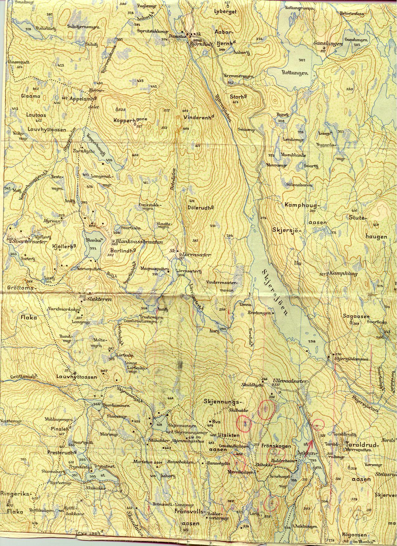 kart over nordmarka Oversiktskart kart over nordmarka