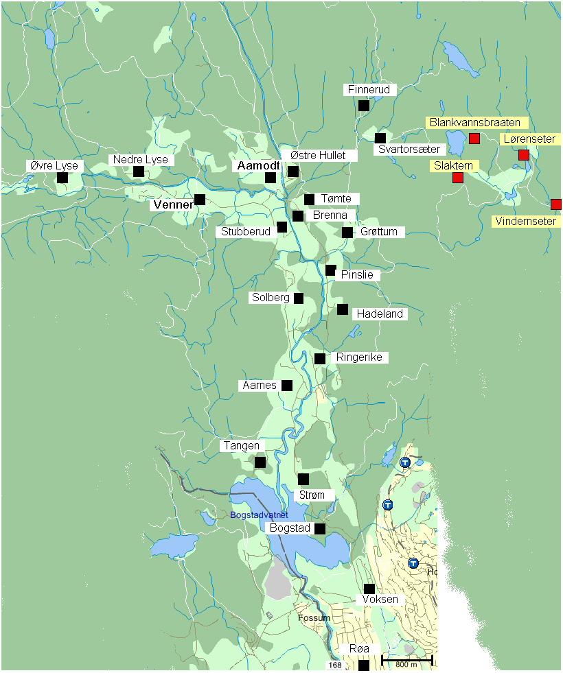 sørkedalen kart Oversiktskart