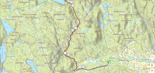 Kart Sørkedalsrennet 2016 - lommekjent
