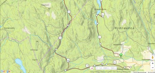 Sørkedalsrennet kart 2017